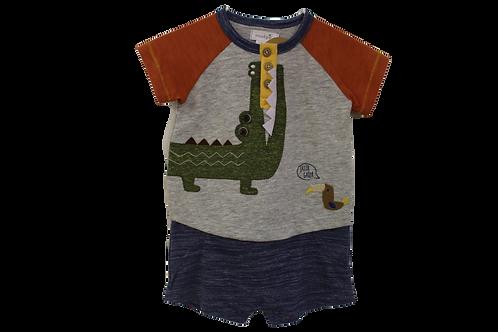 Alligator Baby Romper by Mudpie
