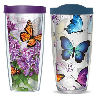 Butterfly Thermal Insulated Tumbler Cups