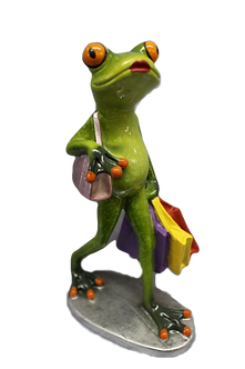"""Shopping"" Tree Frog Figurine"