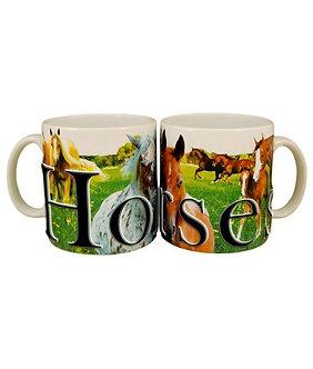 18oz Horse Stoneware 3D Mug/Cup
