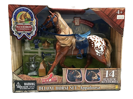 Appaloosa Brown Horse Deluxe Toy Set