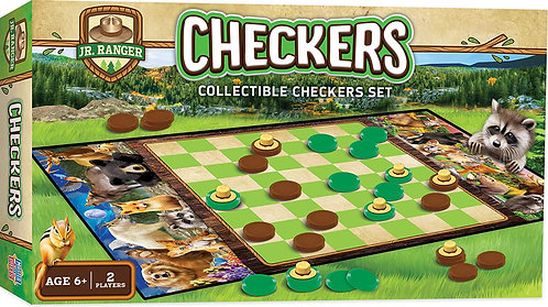 JR RANGER CHECKERS BOARD GAME by MasterPieces