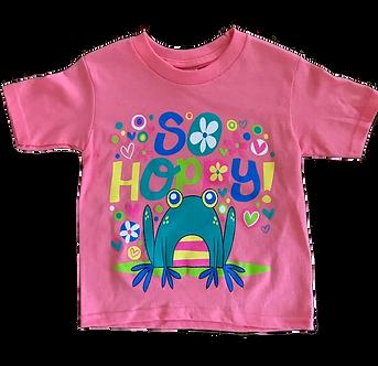"""So Hoppy"" Frog Youth T-Shirt by Stephen Joseph"