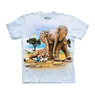 """Best Pals"" Elephant & Giraffe Youth T-Shirt by The Mountain"