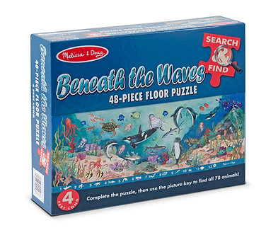 48 Piece Melissa & Doug Beneath The Waves Floor Puzzle