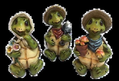 Sitting Gardening Turtle Figurine by Gerson
