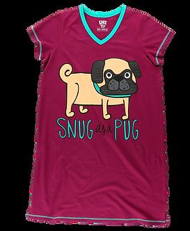 """""""Snug as a Pug"""" Dog Lazy One Nightshirt"""