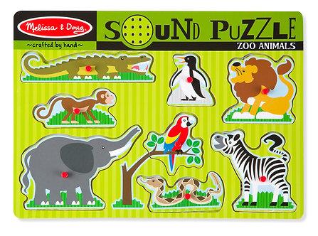 8 Piece Melissa & Doug Zoo Animal Sound Puzzle