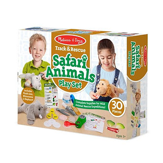 Melissa & Doug Track & Rescue Safari Animals Play Set