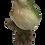 Medium Green & Blue Bird on Tree Figurine