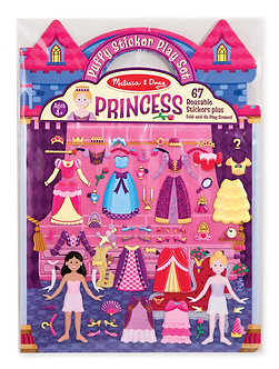 Melissa & Doug Princess Reusable Puffy Sticker Play Set