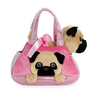 Fancy Pals Pug Puppy Peek-A-Boo Purse