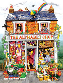 "500 Piece Jigsaw Puzzle by SunsOut ""The Alphabet Shop"""