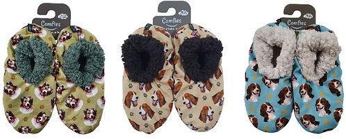 Australian Shepherd, Bassett Hound, Beagle Fuzzy Comfy Slippers