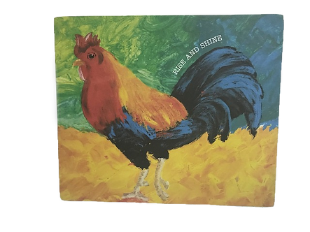 Decorative Rooster Block Sign by Primitives by Kathy