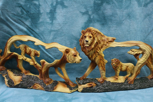 Tiger or Lion Cut-Out Figurine
