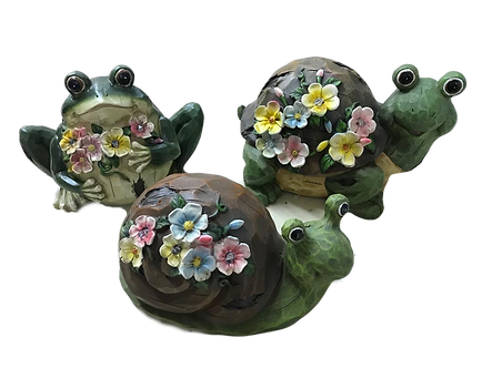 Solar Light Garden Frog/Turtle/Snail Figurine