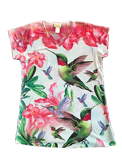 Hummingbird V-Neck Shirt by Sunshirt