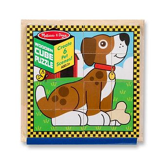 16 Piece Melissa & Doug PetsCube Puzzle
