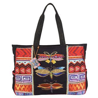 "Laurel Burch ""Colorful Dragonflies"" Large Tote Bag"
