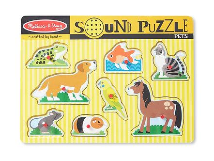 8 Piece Melissa & Doug PetsSound Puzzle