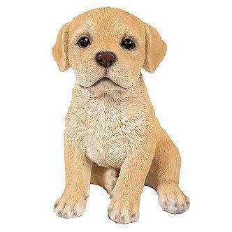 Yellow Labrador Puppy Dog Figurine