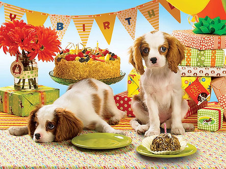"1000 Piece Cavalier Dog Jigsaw Puzzle by Cobble Hill ""Every Dog Has Its Day"""