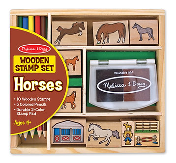 Melissa & Doug Horse Wooden Stamp Set