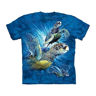 """""""Find 9 Sea Turtles"""" Adult T-Shirt by The Mountain"""