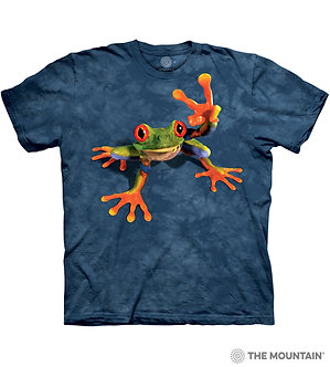 """Victory Frog"" Tree Frog Adult T-Shirt by The Mountain"