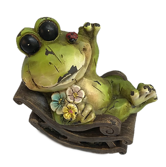 Frog in Rocking Chair Figurine by Gerson