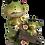 Frog Pushing Wheelbarrow Figurine by Gerson