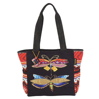 "Laurel Burch ""Colorful Dragonflies"" Medium Purse/Tote Bag"