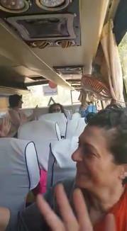 Nia on the bus