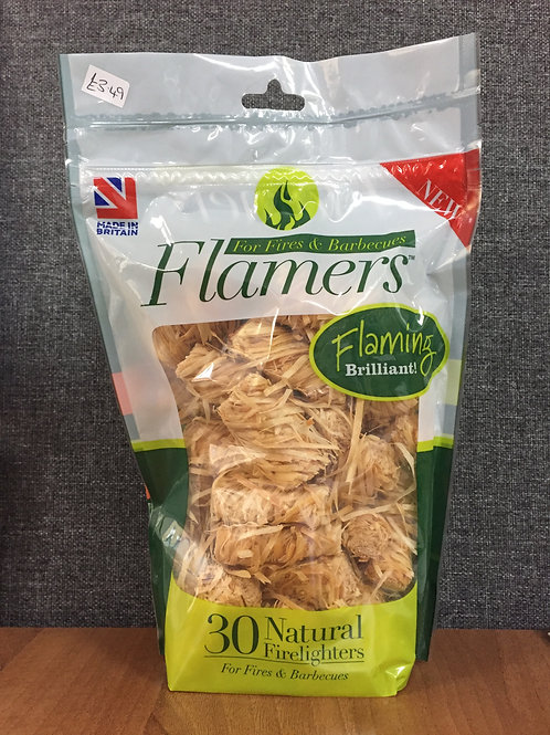 Flamers Natural Firelighters (30 Pack)