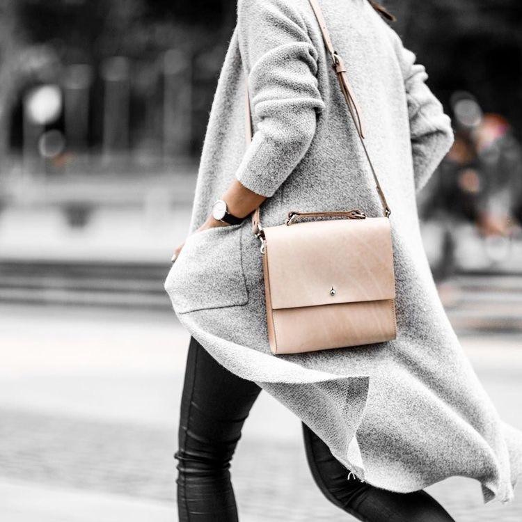 Grey soft coat