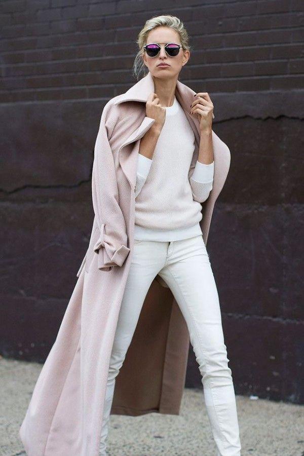 Eliane Porchet - long rose coat