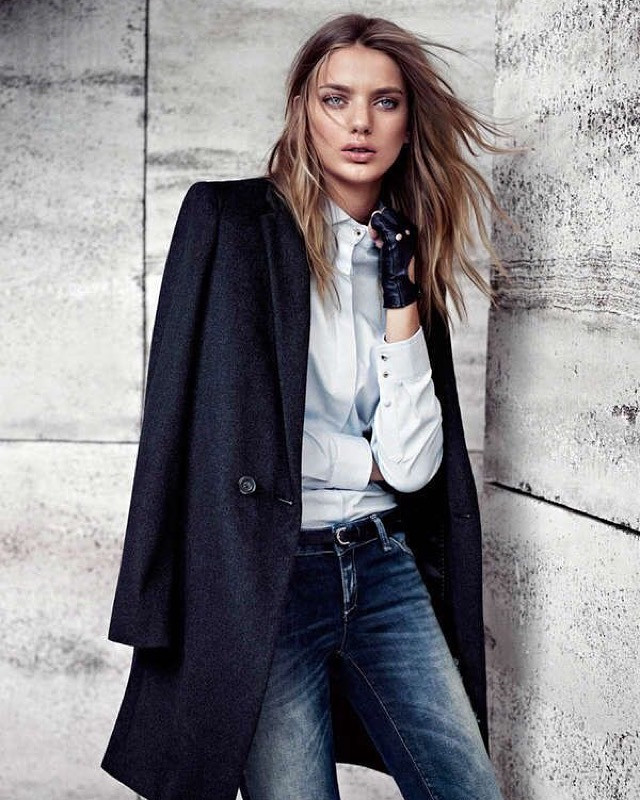 Short Coat with Jeans