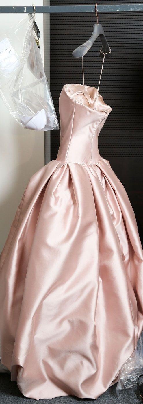 Eliane Porchet - long rose evening dress