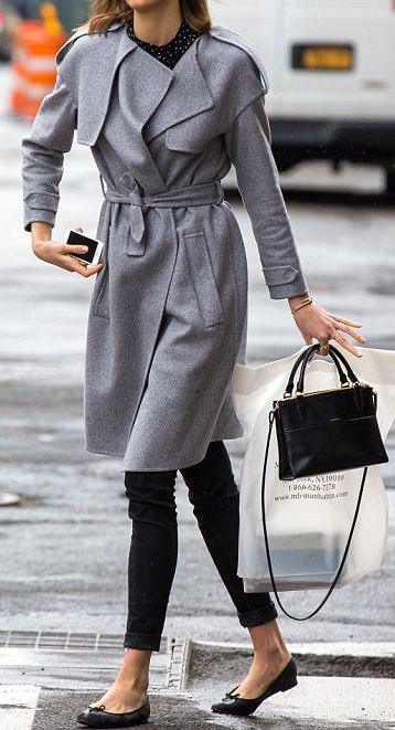 Eliane Porchet Grey trenchcoat