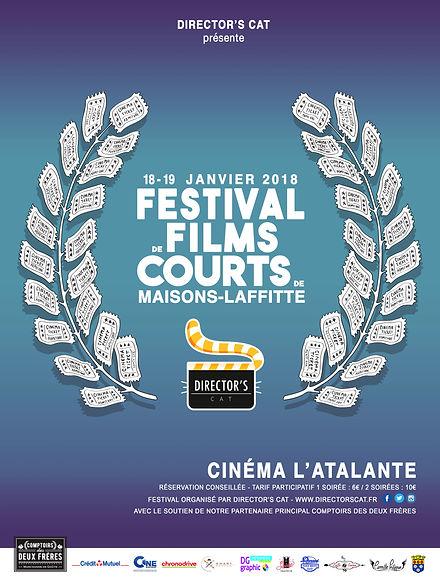 Festival de Films courts de Maisons-Lafftte 2018 -  www.directorscat.fr - Affiche officielle de la 2e édition