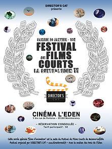 """Le Festival de Films courts continu de Maisons-Lafftte 2018 continue à l'Eden de Montmorency pour une soirée consacrée aux """"films d'animation"""" -  www.directorscat.fr - Affiche officielle du Festival de Films Courts la suite à l'Eden !"""