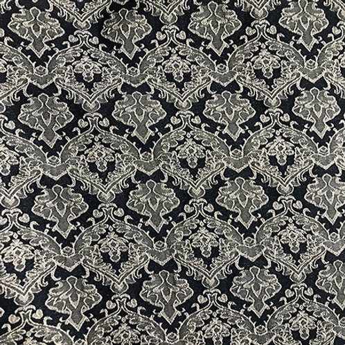 Damask Blue and Gray