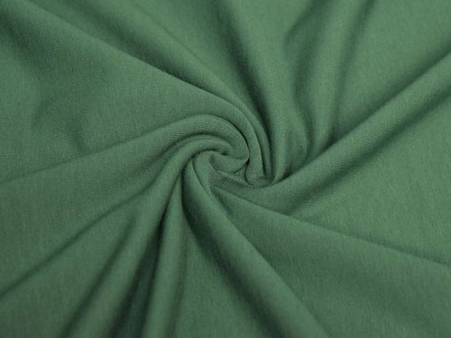 Green brushed French Terry