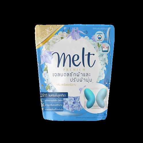 เมลท์ เจลบอลซักผ้า +เจลบอลปรับผ้านุ่ม กลิ่น สดชื่นดอกไม้บาน 160 กรัม