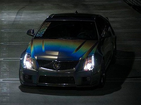 Cadillac CTS-V 3M Flip Color Shifting Vinyl Wrap