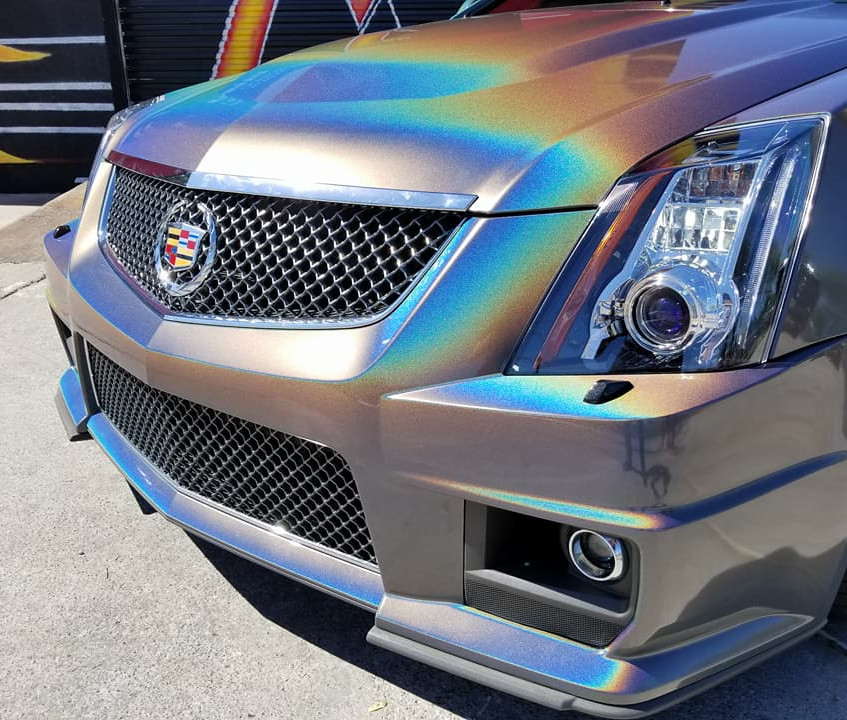 Cadillac CTS-V Grille Vinyl Wrap
