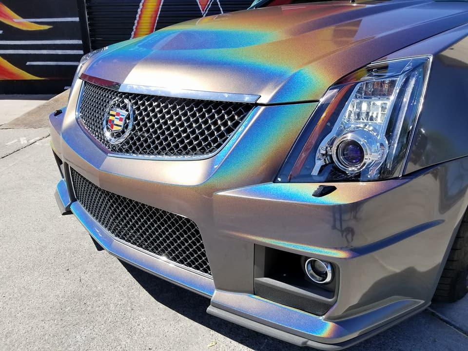 Cadillac CTS-V 3M Psychedelic Flip Color Shift Vinyl Wrap