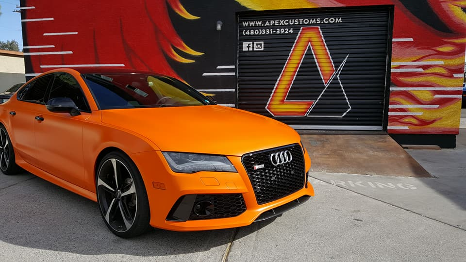 Avery Dennison Satin Orange  Audi RS