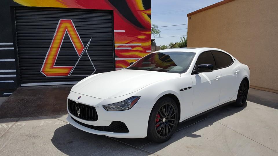 Maserati Vinyl Wrap Matte White